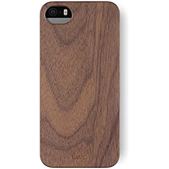 uk availability bd566 3182f iATO iPhone SE / 5s / 5 Wooden Case - Real Walnut Wood Grain Premium  Protective Shockproof Slim Back Cover - Unique, Stylish & Classy Thin Snap  on ...