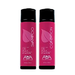 Ava Haircare – Curl Shampoo And Conditioner – Vegan, Sulphate Free, Paraben Free, Cruelty Free – Argan Oil Shampoo and Conditioner (Set of 2, 8.4oz Each)