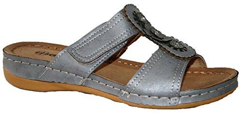 Gezer - Sandalias de vestir para mujer grey flower