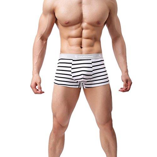 Aimee7 calzoncillos Ultra suave y interior Shorts bolsillo rayas hombres Bulge impresa c Boxer ropa rrvqgpz