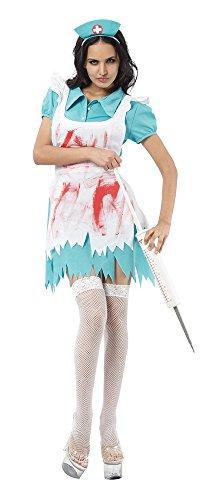 Bristol Novelty AC958 Blood Splattered Nurse Costume, UK -