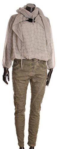 Khaki Basic Camicia stonewash Donna de O87q8z