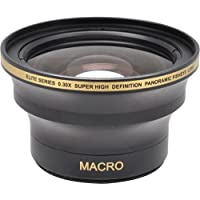 58MM & 52MM 0.30x FishEye Conversion Lens with Macro For Nikon D3100, D3200, D3300, D5000, D5100, D5200, D5300, D5500, D7000, D7100, D7200, D90, D300, D600, D610, D700, D750, D800, D810 DSLR Camera Advantages Review Image