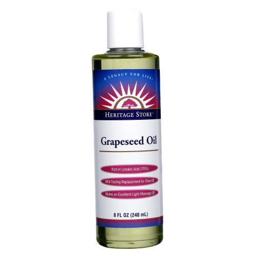 - Heritage Store Massage Oil, Grapeseed, 8 Ounce