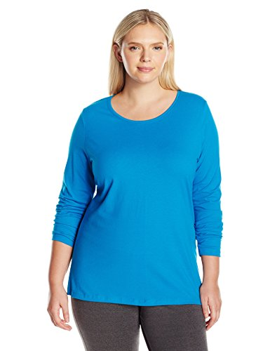 Just My Size Women's Plus Size Long Sleeve Tee, Deep Dive, ()