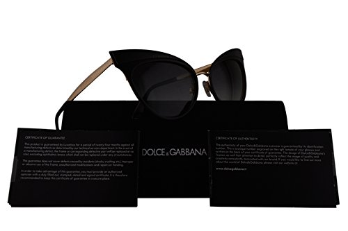 Dolce & Gabbana DG2178 Sunglasses Matte Black w/Grey Gradient Lens 57mm 13128G DG - Collection Sunglasses New Dolce And Gabbana