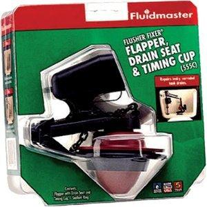 Fluidmaster 555CRP8 Flusher Fixer® Flapper, Drain Seat & Timing Cup by Fluidmaster