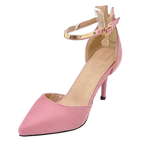 Coolcept Mujer DOrsay Bombas Zapatos Pink-8.5CM