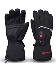 SAVIOR HEAT Heated Gloves, Unisex Rechargeable Battery Powered Electric Heating Glove for Winter Outdoor Working Snow Ski Snowboarding Hunting Snowmobiling Motorcycle Riding