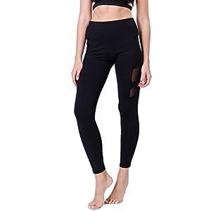 KIWI RATA Women Sports Mesh Gym Workout Fitness Capris Yoga Pant Legging