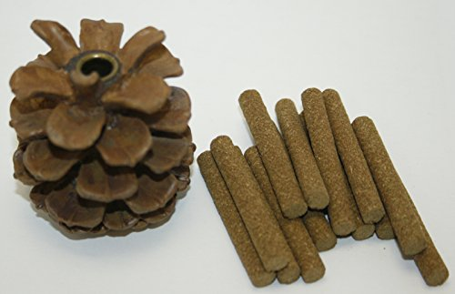 Pine Cone Incense Burner With 12 Fir Balsam Sticks - Paine's Fir Balsam