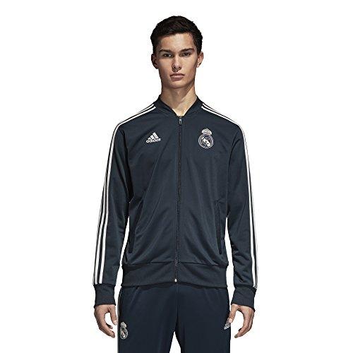 (adidas 2018-2019 Real Madrid Knitted Presentation Jacket (Dark Grey))