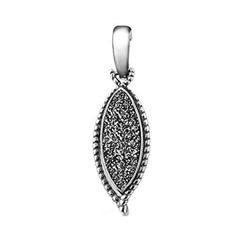 Carolyn Pollack Sterling Silver Platinum-Colored Drusy Quartz Pendant Enhancer ()