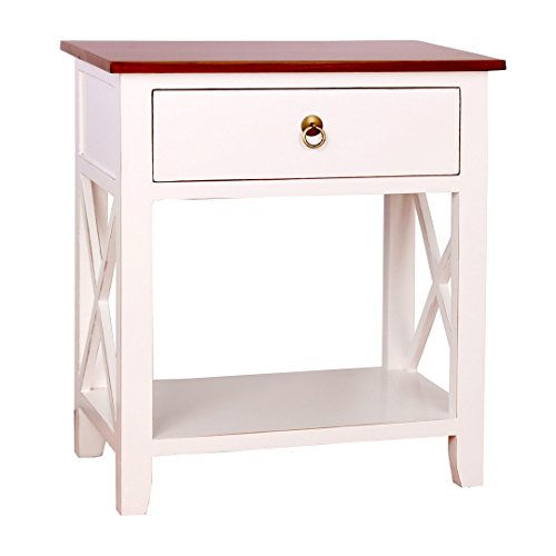 Porthos Home CB145B WHT Kashi Accent Nightstand, White
