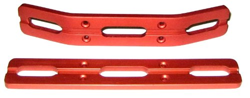 RC Raven T-Maxx and E-Maxx Red Anodized Aluminum Bumper Set ()