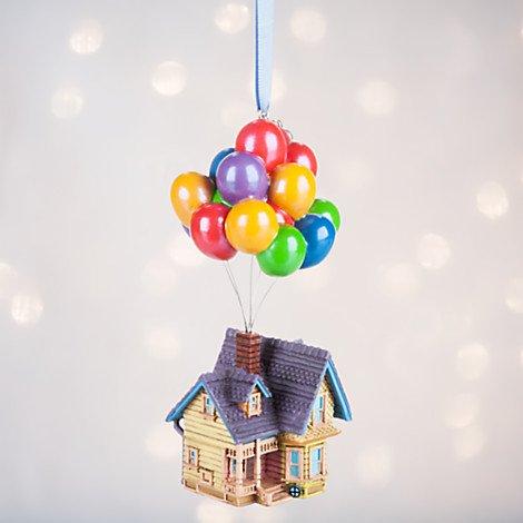 Disney Pixar UP House Sketchbook Holiday Ornament 2016 Version with Disney Store Logo Charm