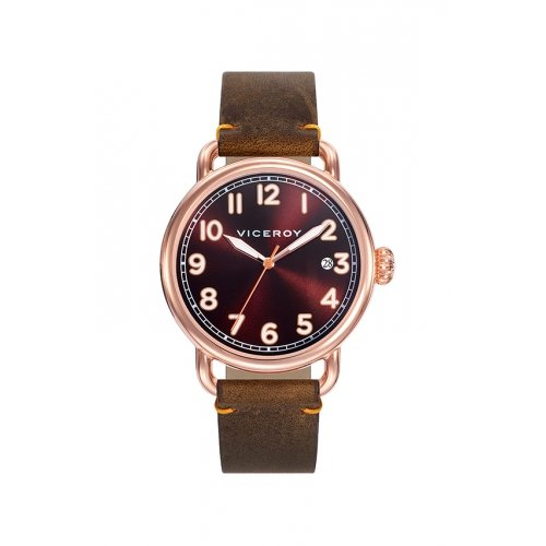 Watch Viceroy 42251-45 Men's Brown Leather Calendar