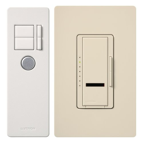 Lutron Maestro 1000-Watt IR Dimmer Switch for Incandescent and Halogen Bulbs, Single-Pole, with IR Remote Control MIR-1000T-LA, Light Almond