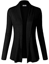 BIADANI Women Classic Soft Long Sleeve Open Front...