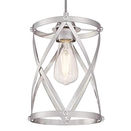 Westinghouse Lighting 6362300 Isadora One-Light Mini, Brushed Nickel Finish Indoor Pendant,