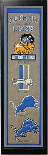 Encore Detroit Lions Logo History Felt Banner - 14 x 37 ()