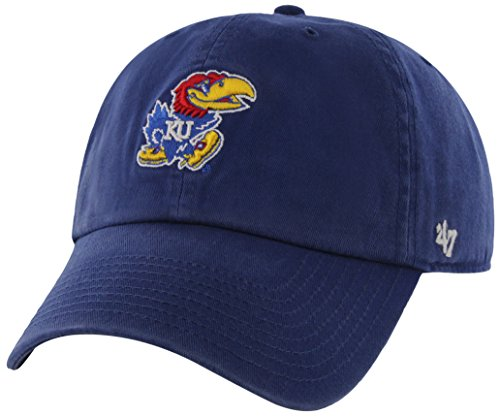 Kansas Jayhawks Ku Baseball - NCAA Kansas Jayhawks '47 Clean Up Adjustable Hat, Royal, One Size