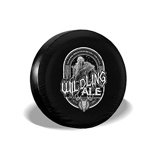 (CharmKAT Custom Universal Waterproof/Windproof Game of Thrones - Wildling Ale Spare Tire Cover for All Cars,(14