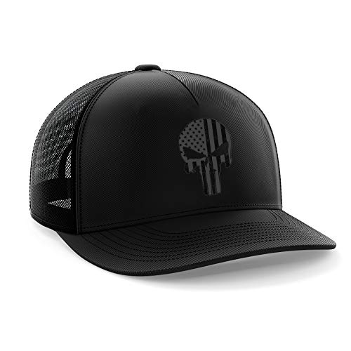 - Tactical Pro Supply Phantom Punisher American Flag Snapback Hat