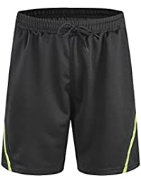 Mens Sport Shorts Elastic Waist with Pockets Quick Dry Stretchable for Running, Training, Workout Swim