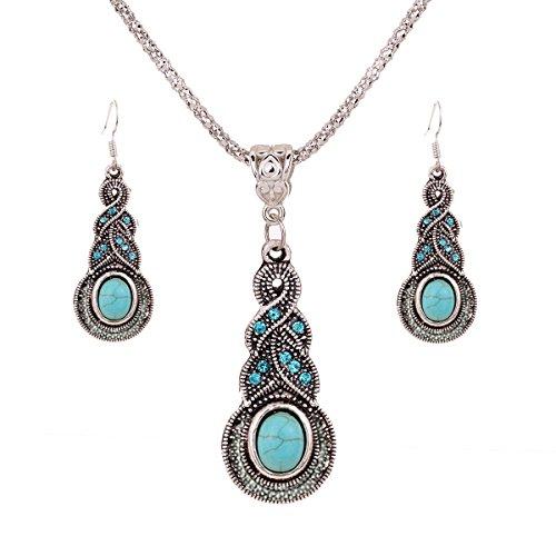 Regalo-de-la-joyera-de-plata-tibetana-de-la-turquesa-Yazilind-Encanto-cristalino-de-la-mariposa-del-corazn-pendientes-del-collar-para-la-Mujer