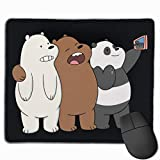 Mouse Mat with Designs Cool We Bare Bears Mousepad Gaming Mouse Pad Natural Rubber 25X30 cm