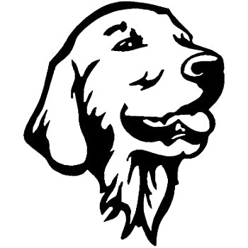 Amazon Com Stickerdad Golden Retriever Head Ol Vinyl Decal