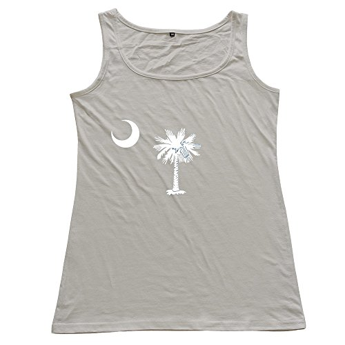 Flag Of South Carolina Women's 100% Cotton Tanks Top Gray (Advance Wars Shirt)