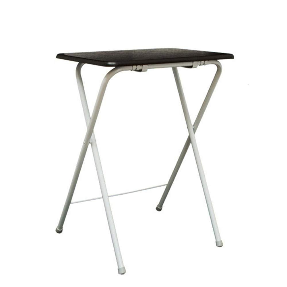 XIAOYAN ファッションソリッド+ステンレス折りたたみテーブルダイニングテーブルノートテーブルその他のテーブル B07H8FGD5L