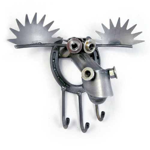 Lucky Moose and Horseshoe Key Holder, Utility Hook, or Leash Holder