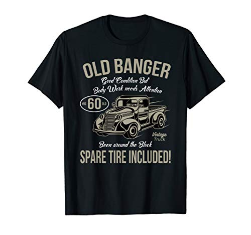 60th Birthday T-Shirt Vintage Old Banger 60 years old Gift