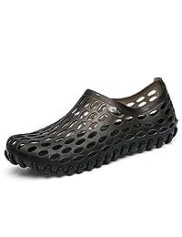 BADIER Men Women Unisex Summer Mesh Slippers Garden Clog Shoes Footwear Water Shoes Walking Sandals Beach Shower Anti-Slip Jelly Hole Shoes