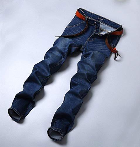 Dell'anello Elastici Modo Jeans Dunkelblau Abbigliamento Dei Di Uomo Fit Pantaloni Slim Denim Sigaretta A a1qHYP