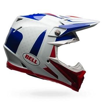 Bell Cascos MX 2017 Moto-9 Flex adultos casco, Azul/Rojo, tamaño