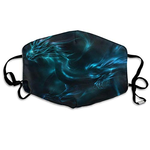 Unisex Mouth Mask Cool Dragon Neon Shadows Polyester Anti-dust Masks Washed Reusable Face Mask for Outdoor Cycling (Neon Dragon)