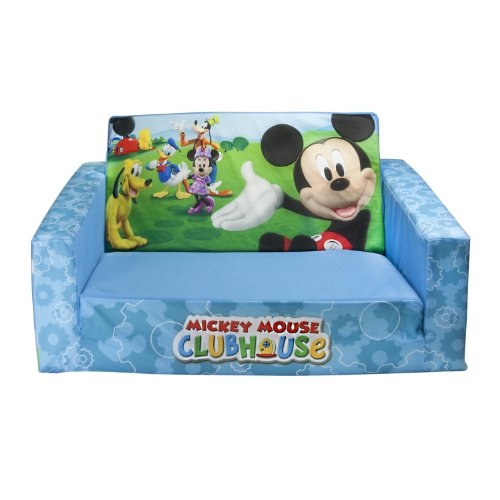 Marshmallow Children's Furniture - 2 in 1 Flip Open Sofa - Disney Mickey Mouse