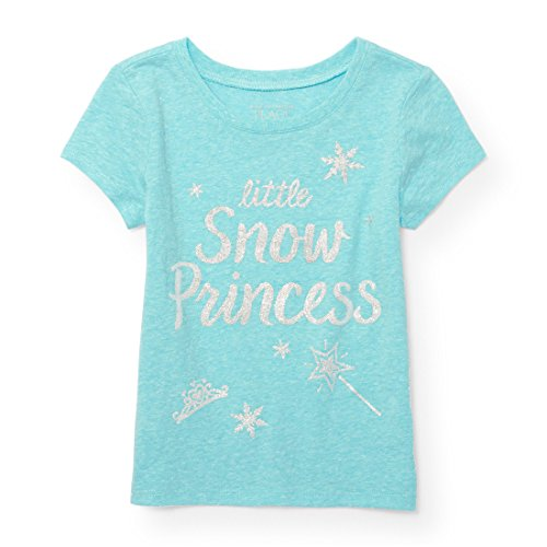 Time Value T-shirt (The Children's Place Baby Girls' T-Shirt, Sample/Dye Time For Teal 92729, 3T)