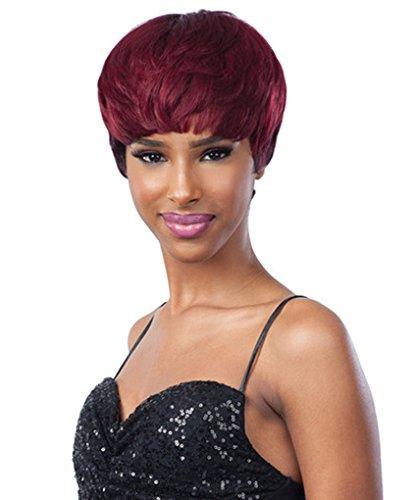SAGA GOLD Remy Human Hair Wig PEACH PUFF (OP27) (Saga Human Hair Wigs)