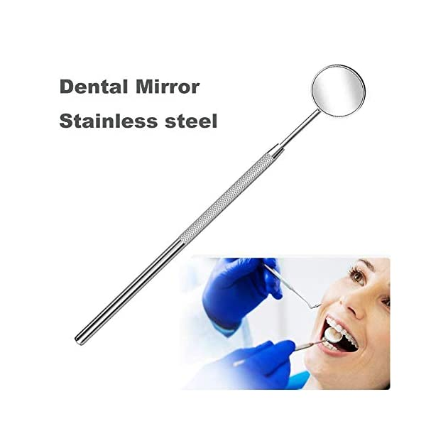 Dental Mirror Inspection Mirror Makeup Mirror Teeth Cleaning Tool Stainless Steel Dental Tools for Personal and Pet 3