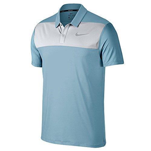 Nike Dry Color Block Men's Golf Polo (Ocean Bliss/White, - Polo Color