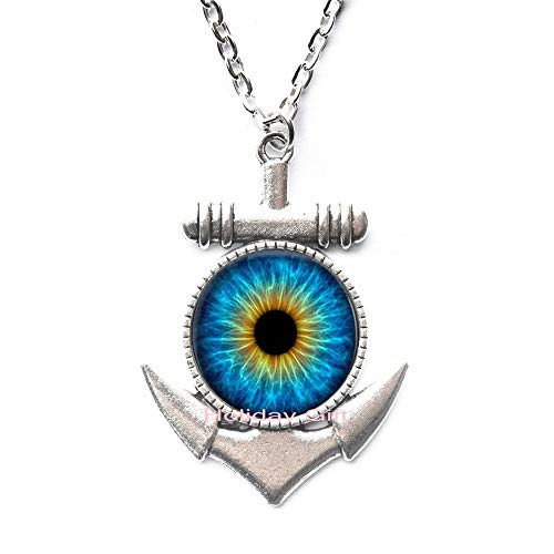 Holiday gift Cat's Eye Crystal Pendant Necklaces per ality Dragon Eye Glass Dome Pendant Necklace Jewelry Necklace.HTY-012