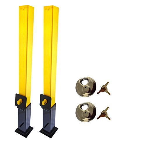 (AB Tools-Maypole Security Post Lock Removable Caravans Trailers Driveway 2 Pack Cement in TR177)