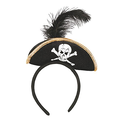 Fun Express - Plush Pirate Headband for Halloween - Apparel Accessories - Costume Accessories - Costume Props - Halloween - 1 Piece