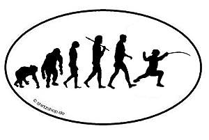 Fechten I Fechter Degen Florett Schwert Säbel Evolution Aufkleber...
