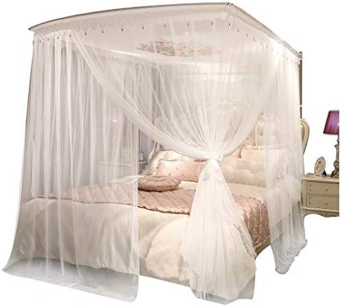 58SD ホームダブルプリンセス風ベッド蚊帳アイアンリトラクタブル蚊帳の暗号化3ドアオープン1.5メートル/ 1.8メートル (Color : 1.5m)